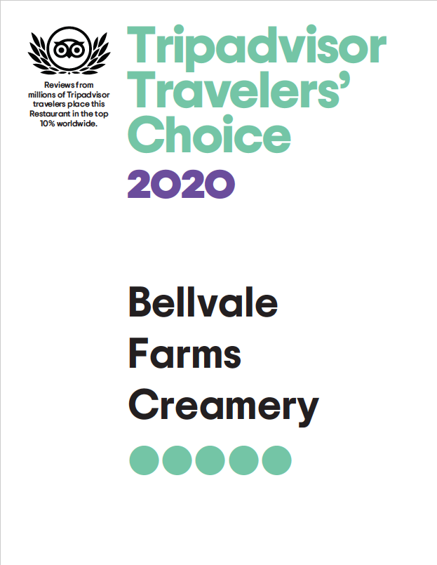 Trip Advisor Travelers' Choice Award-Bellvale Farms