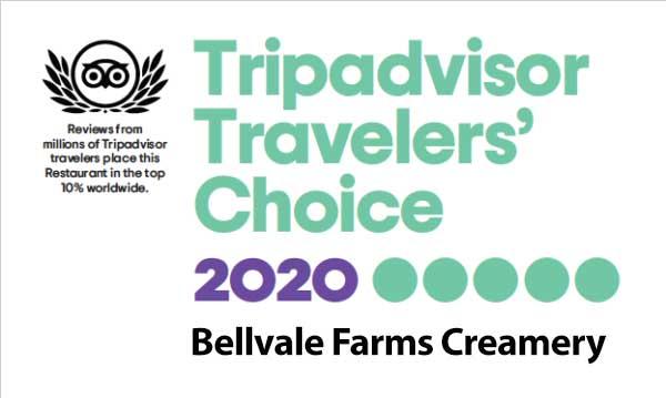 Bellvale Farms Travelers Choice Award